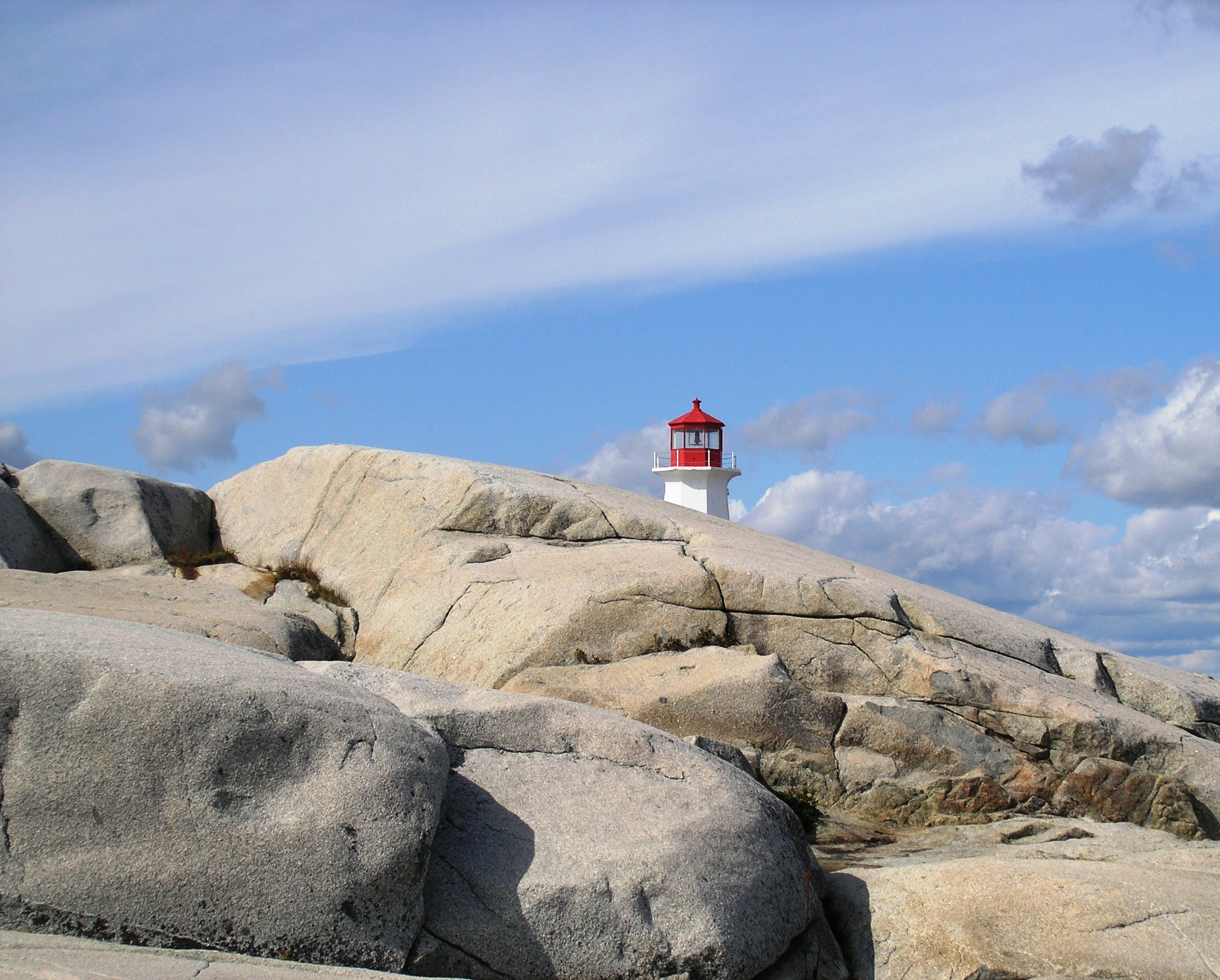 Lighthouse at Peggy's Cove in Nova Scotia by Laurie Buchanan