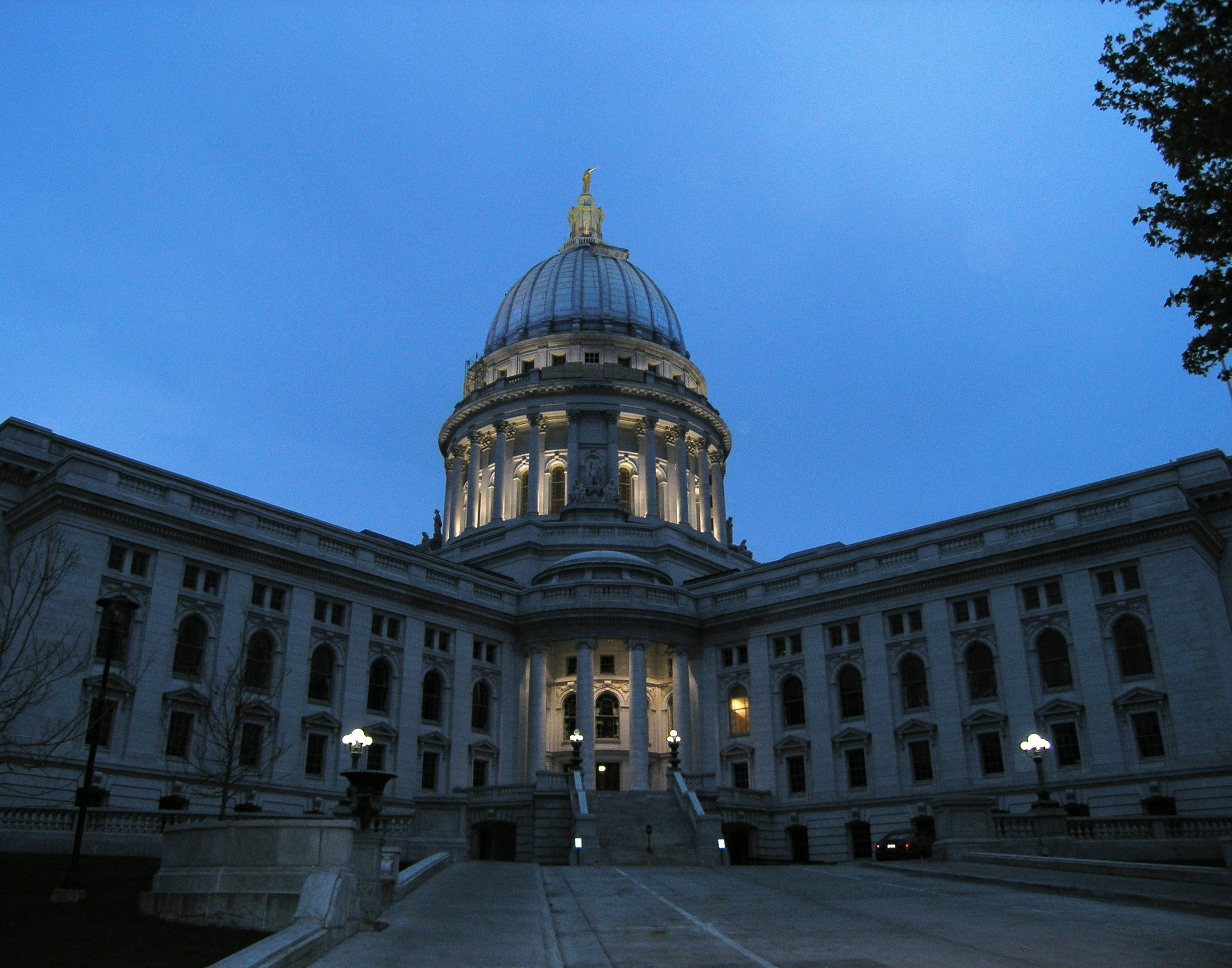 Madison WI Capitol at Dusk by Laurie Buchanan