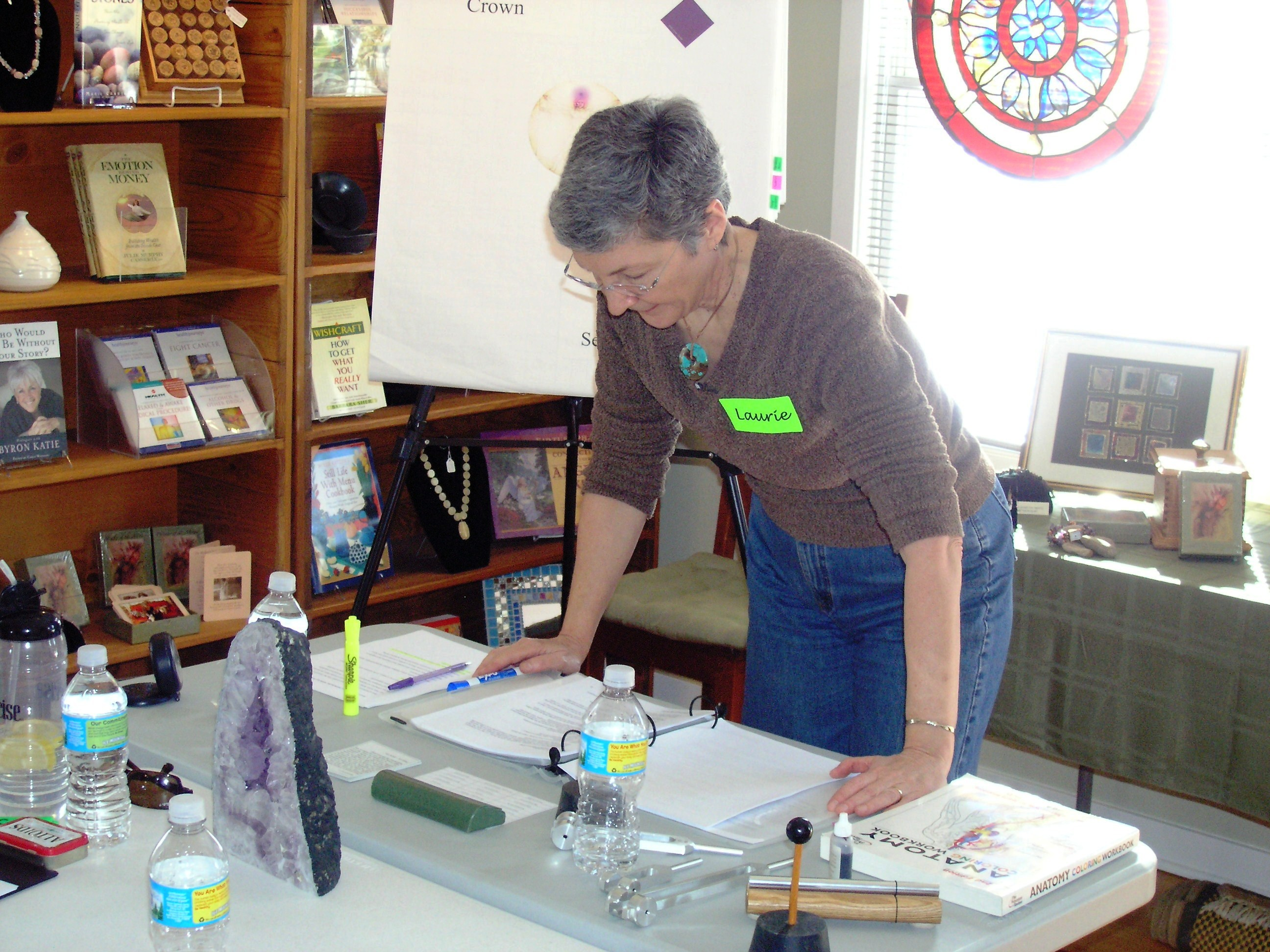 Laurie Teaching by Len Buchanan