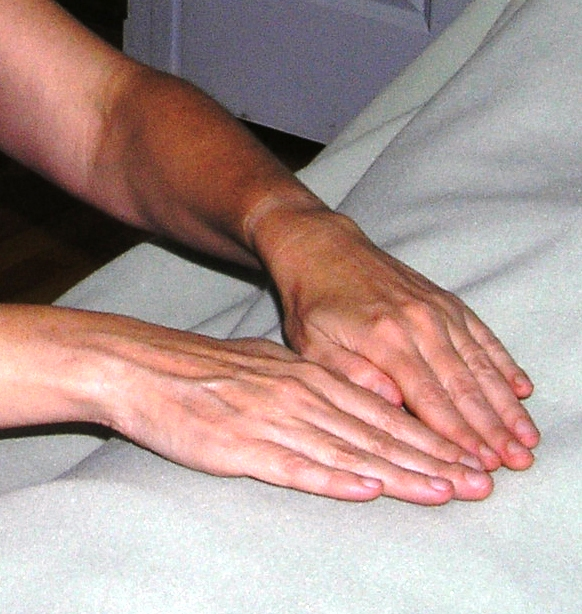 Laurie's Reiki Hands by Len Buchanan