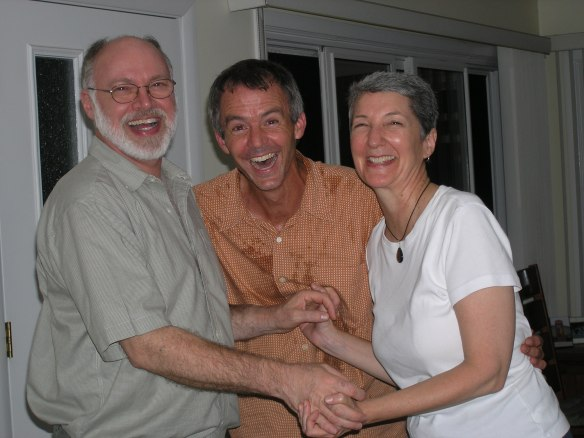 Len, Peter and Laurie Laughing