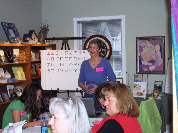 Laurie Teaching Numerology at HolEssence