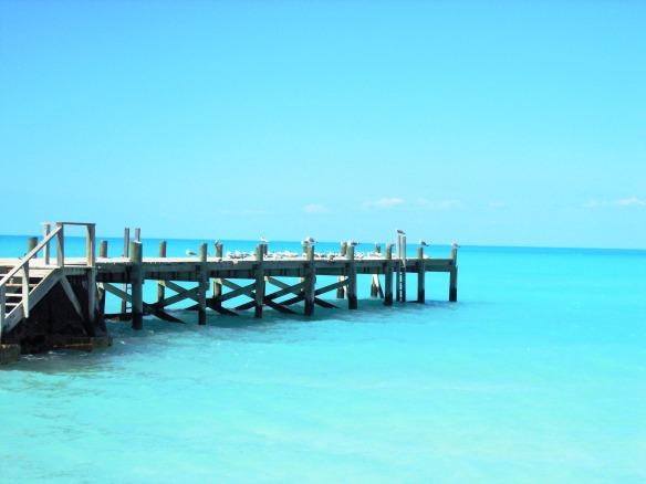 Tarpum Bay Pier on Eleuthera Island by Laurie Buchanan