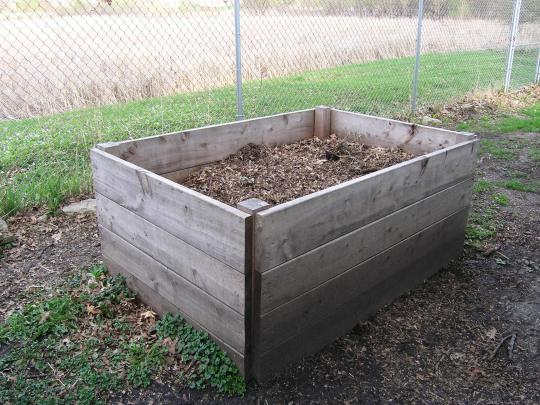 The EGGstremely large compost bin that Len built