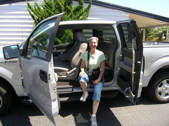 Laurie picking up Ford F150 Super Cab