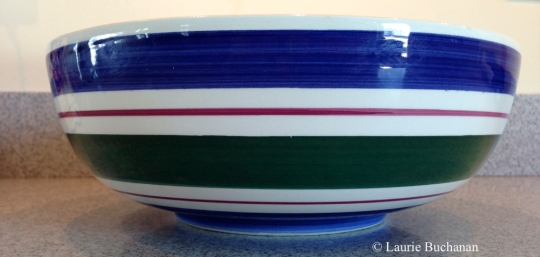 I found my Buddha Bowl at a resale shop — it's 10-inches across the top and 3.75 inches deep